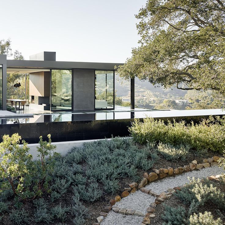 An impressive architectural home nestled in Beverly Hills, California.