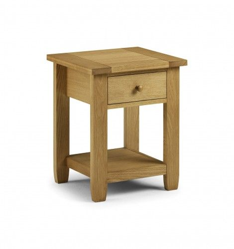 Furniture, The Extraordinary Light Brown Colour In The Perfect Julian Bowen Lyndhurst Single Drawer Bedside Table: The Simple Brown Narrow N...