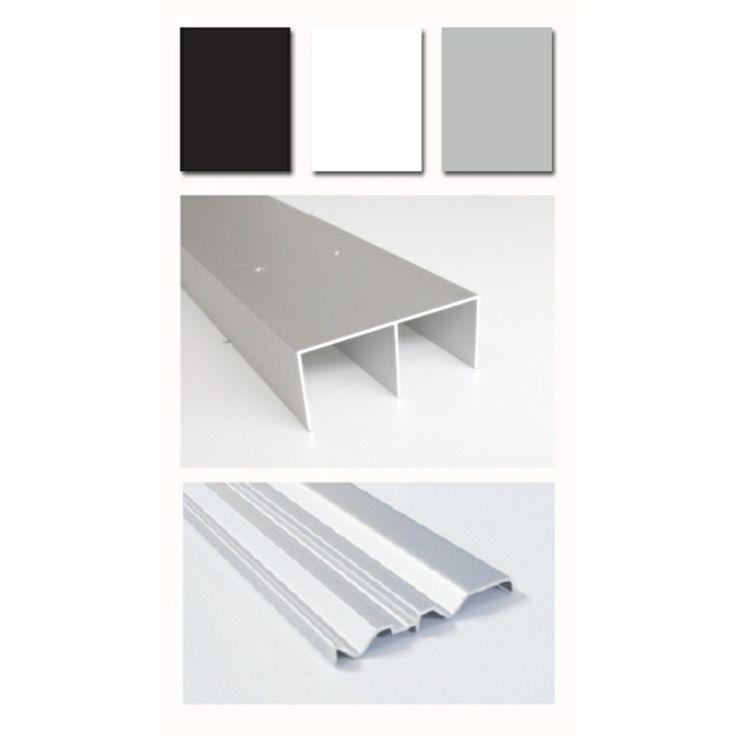 Multi-store 1200 x 76mm Silver Shoji Wardrobe Door Double Sliding Track