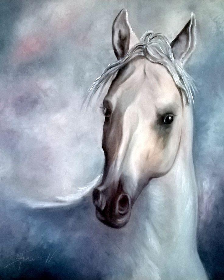 Le Pur Sang Arabe - Un peinture d'un cheval Arabe