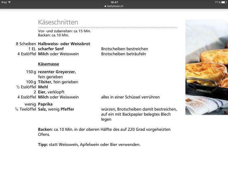 Grundrezept für Käseschnitte
