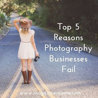 If you're new to your photography business you'll want to check out these 5 reasons!  http://www.magazinemama.com/blogs/editors-blog/19258820-5-reasons-photography-businesses-fail