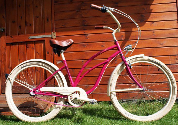 Rower cruiser Raspberry Queen #bike #cruiser #beachbike #beachcruiser #royalbi #rower #miejski www.RoyalBi.pl