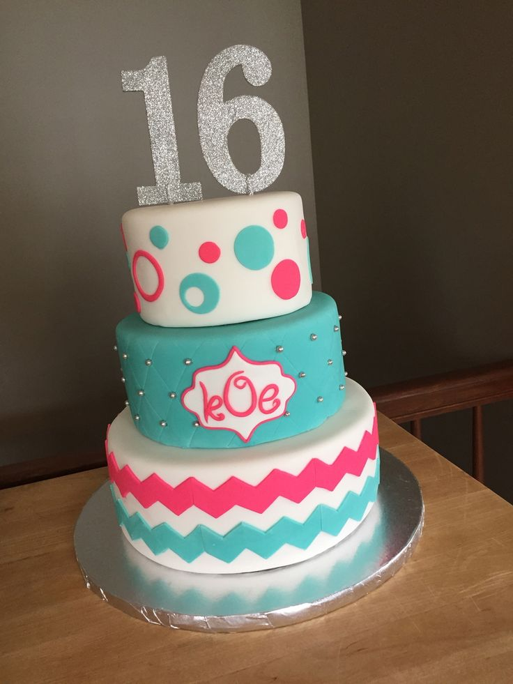 46 best Sweet 16 images on Pinterest Beautiful cakes Sweet