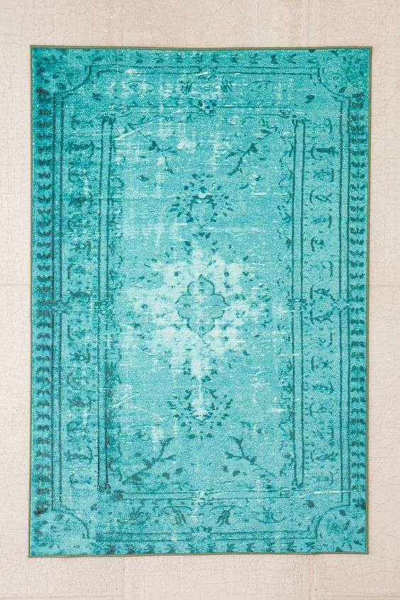 Turquoise Chroma Overdyed Rug - Everything TurquoiseEverything Turquoise