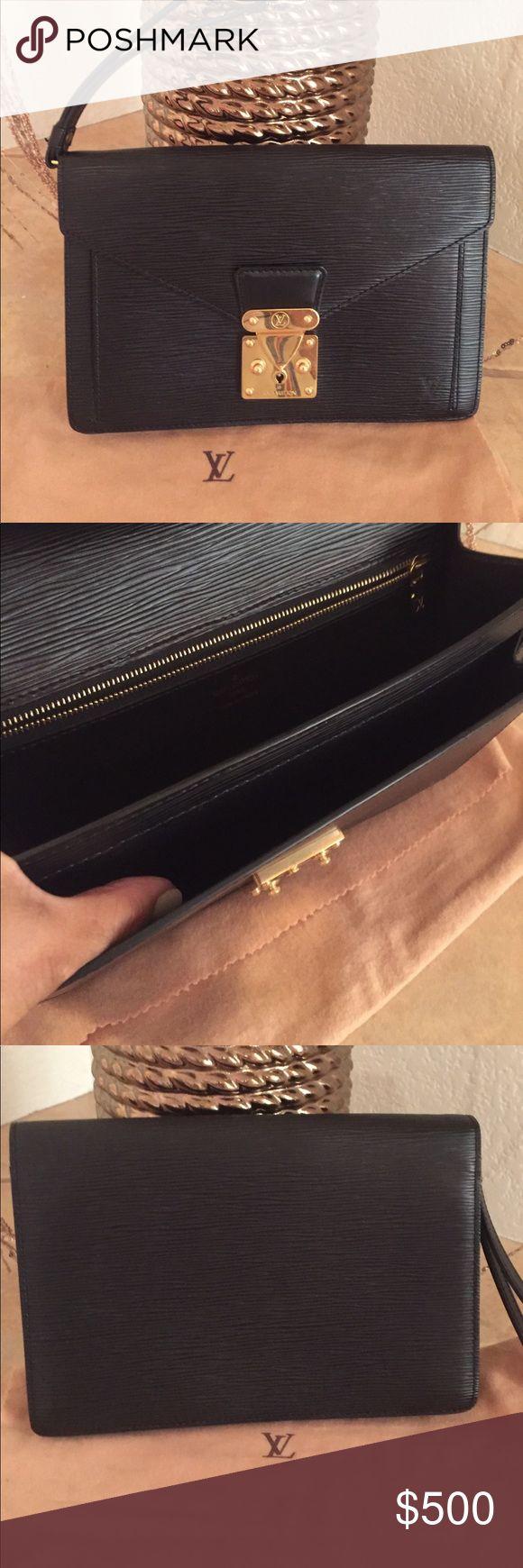 Louis Vuitton clutch bag for men Louis Vuitton Epi Pochette men's bag with dust bag, used only twice Louis Vuitton Bags Clutches & Wristlets