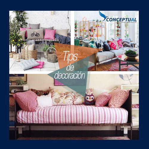 ¿Te gustan los cojines? Estas son una excelentes opciones para decorar tus espacios con lindos cojines.