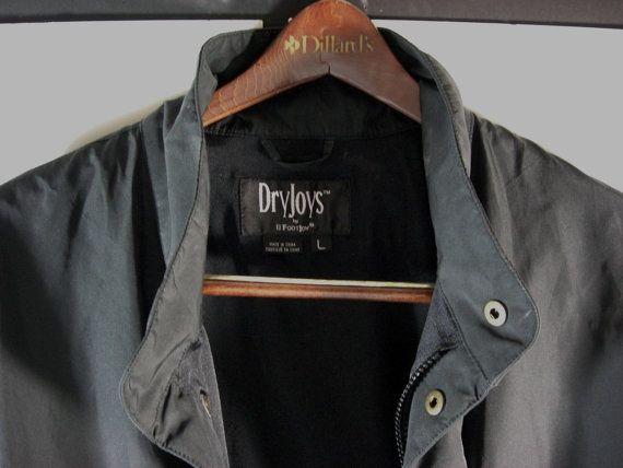 FootJoy DryJoy Golf Jacket Black Windbreaker Coat by UBlinkItsGone