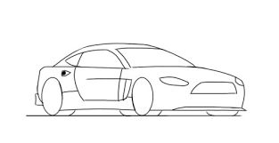 Image result for cartoon car drawings