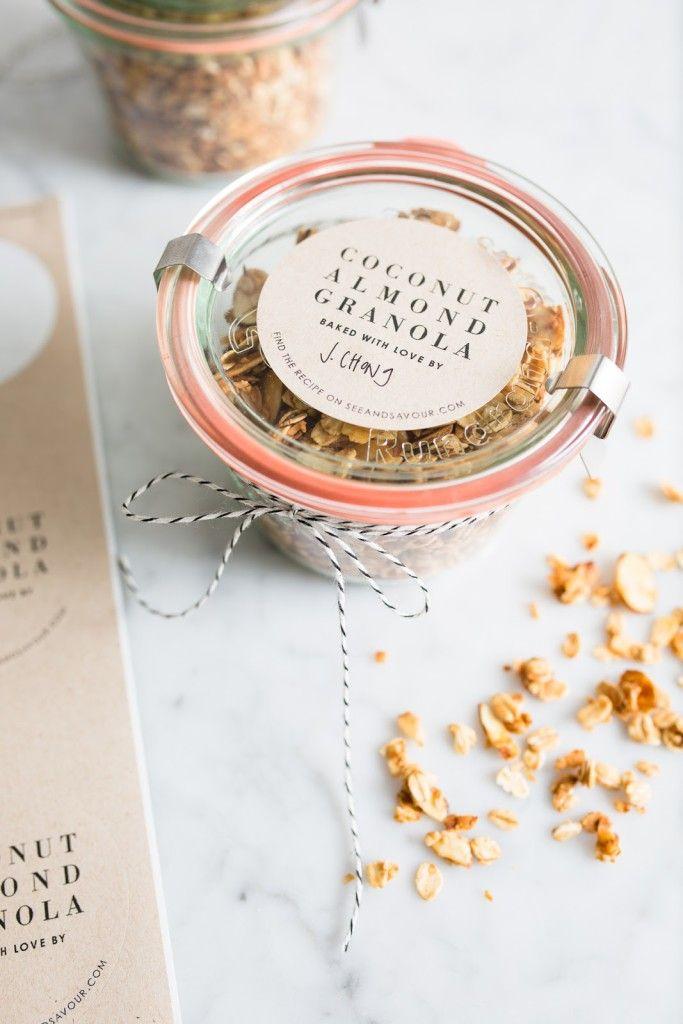 Coconut Almond Granola / seeandsavour.com