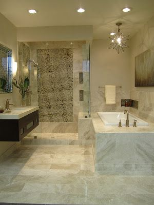 The Tile Shop: Design by Kirsty: New Queen Beige Marble Bathroom