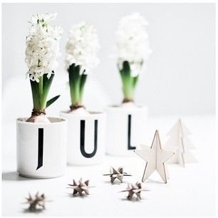 Amazing Christmas decoration featuring JUL cups from Design Letters with typography by Arne Jacobsen.