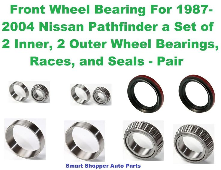 Front Wheel Bearing, Race, Seal For 1987-2004 Nissan Pathfinder - Pair #AftermarketProducts