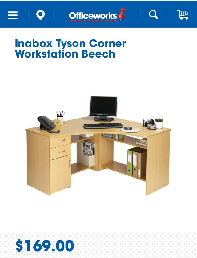 Corner desk to maximise best use of space