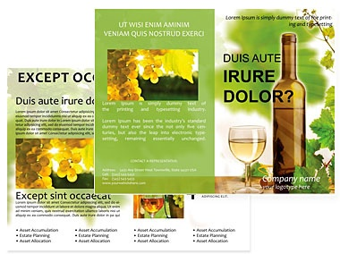 wine brochure template - 74 best images about design rack cards on pinterest