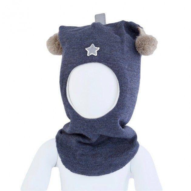 Kivat lue, blå balaclava med refleks og dusker | DressMyKid.no - Barn og baby - Alltid gode tilbud