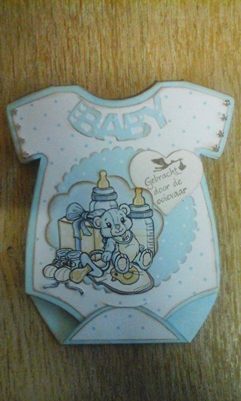 Dutch DooBaDoo -Card Art Baby onesie(baby rompertje)