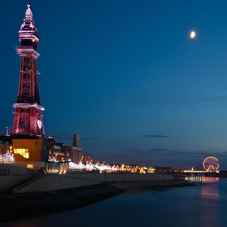 towers - Blackpool Tower, Blackpool UK - night colour effects