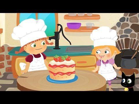 La Brujita Tatty y Lilly Hacen un Pastel de Fresas Dibujos Animados - YouTube