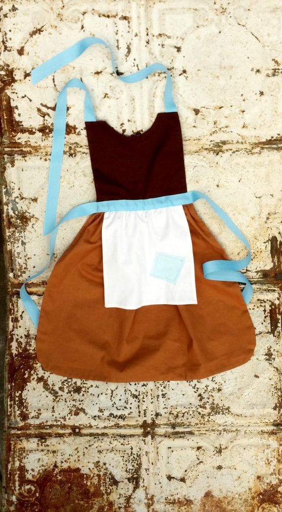 Working CINDERELLA. Sewing PATTERN. Disney inspired Child Costume Apron. Dress up. Play. Photo shoot prop. Fits 2t, 3t, 4, 5, 6, 7, 8. Girls...