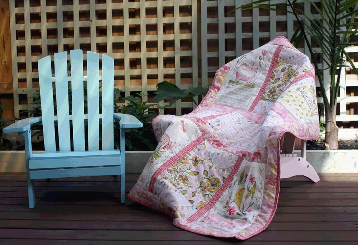 Welcome Home Baby cot quilt by Sew Piecefully Patchwork using the Cori Dantini range of fabrics Hello World