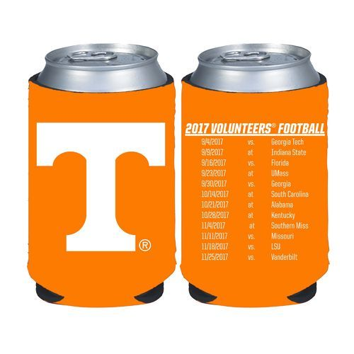 Kolder Kaddy University of Tennessee 2017 Football Schedule 12 oz Can Insulator (Orange Light, Size ) - NCAA Licensed Product, NCAA Novelty at Acad...
