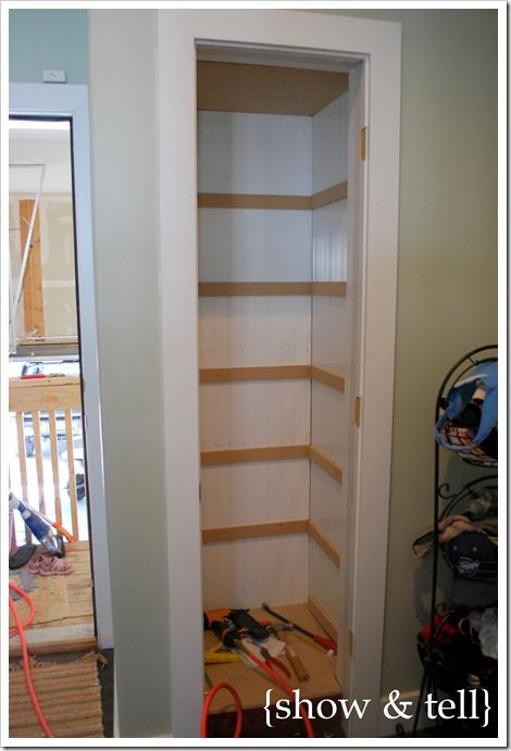 Coat Closet Turned Built In Shelving Sweet Pickins