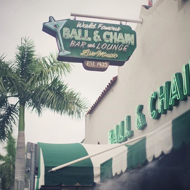 The historic Ball & Chain Restaurant has been around since the 1930s. Once one of the most popular night clubs in Miami, it has hosted Jazz music legends Billie Holiday and Louis Armstrong, among others. This Little Havana institution remains popular today as a live music venue with Cuban food & drink.