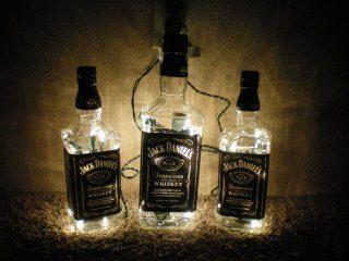 Lighted Jack Daniels Bottle Glass Decorative by SchulersGlassDecor, $20.00