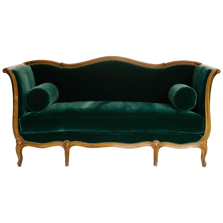 19th Century Louis Xv Style Sultanes Sofa In A Dark