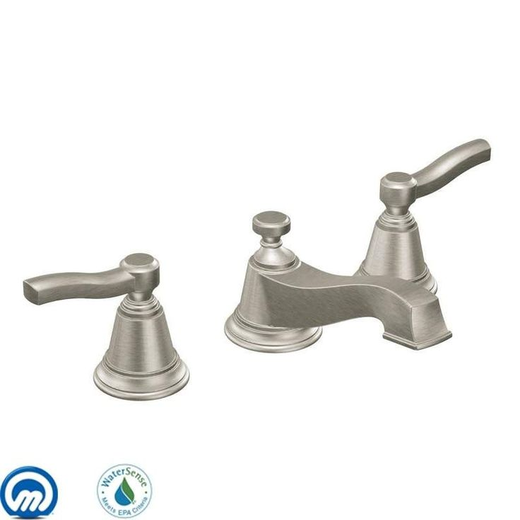View the Moen TS6205 Double Handle Widespread Bathroom Faucet from the Rothbury Collection (Less Valve) at FaucetDirect.com.