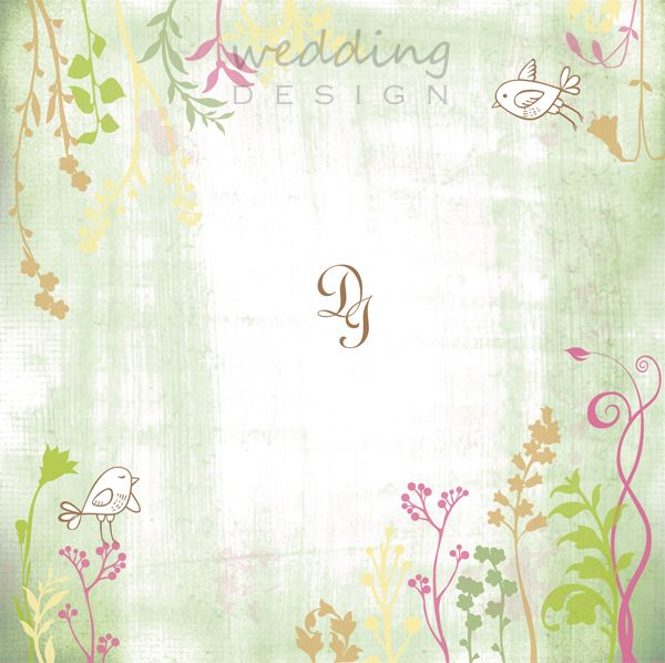 Cute invitation card with birds - Esküvői meghívó madarakkal