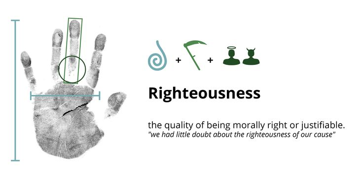 Righteousness in the hands. Palmistry, hand analysis, palm reading, palm reader, hand analyst, chirology