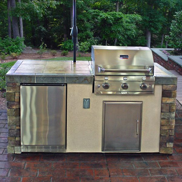 Outdoor Kitchen Electrical Outlet For Home Design Great: Saber Premium Grill Island By Leisure Select