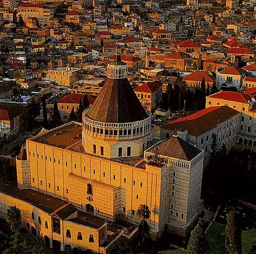 Nazareth, Holy Land: Basilica Church, Arabic Christian, Christian Pilgrims, Church Cathedrals Castles, Holy Land, The World, Mansions, Middle East, Nazareth Israel