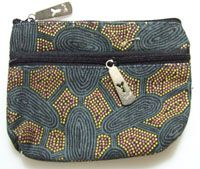 Yijan 2 Zip Keychain Coin Purse Design: Women Travel Dreaming/Green Artist: Maureen Hudson Nampajimpa Code: YI-KCP-2Z-6Slate Price: $11.00 or 2 for $20.00