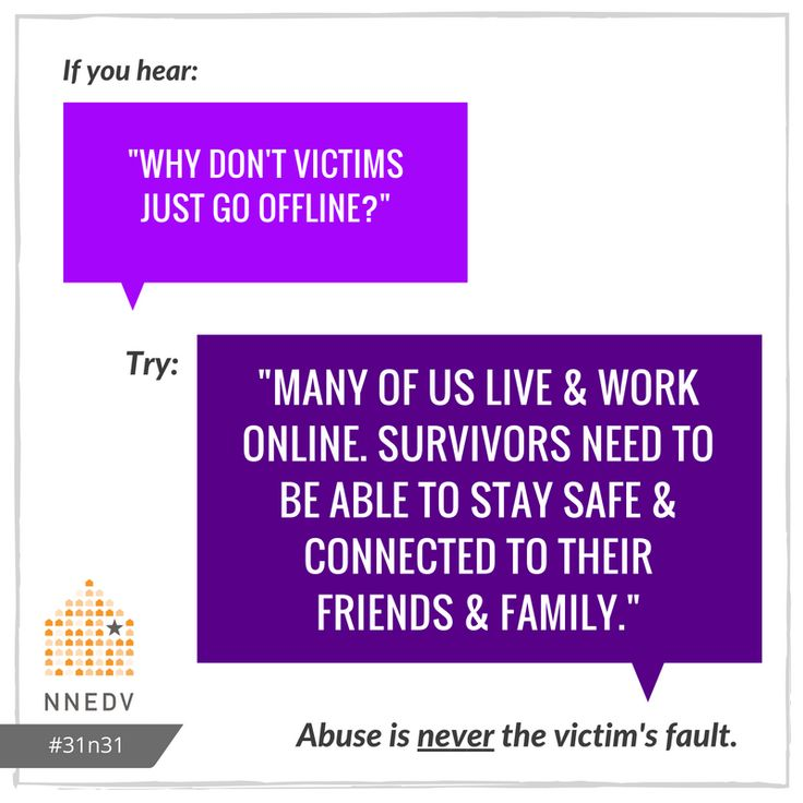 10/9: The better question is: Why do abusers choose to abuse? #31n31 #DVAM2016  Learn more about #TechSafety: http://techsafety.org/