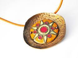 Enamel necklace - Sunset by Boroka Halasz