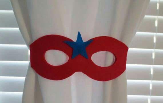 Tie back for every super hero s room..diy