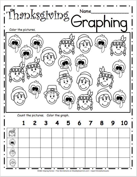 Graphing worksheet for kindergarten math