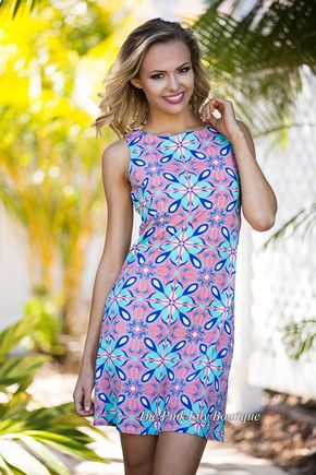 West Avenue Shift Dress Coral