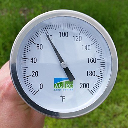 Amazon.com : Agtec Heavy Duty Fast Response Compost Thermometer 60in (0-200°F) : Patio, Lawn & Garden