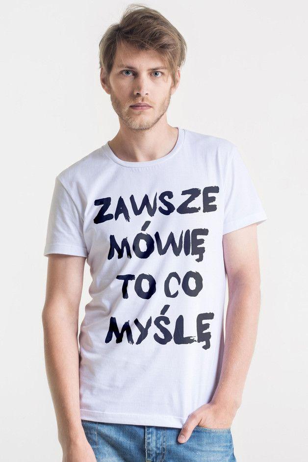 ZAWSZE - Męski T-shirt BIAŁY - great_as_you - Koszulki z nadrukiem męskie