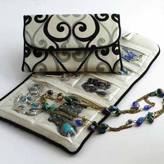 Jewelry Roll Travel Storage Case for Organizing Jewelry