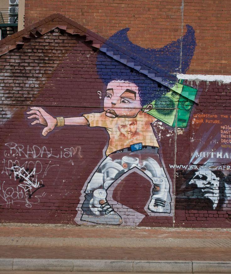 Street art in Newtown, Johannesburg. #SouthAfrica #Africa #weknowbecausewego