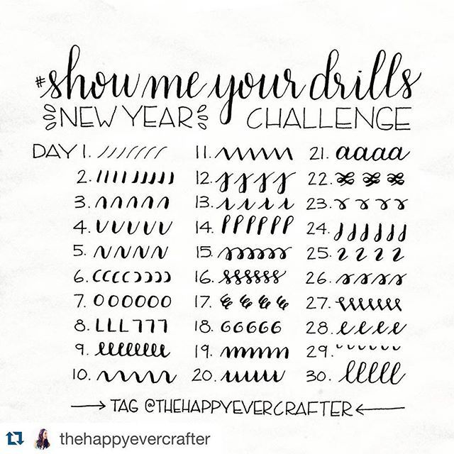 I want to learn handlettering this year and I don't think there is a better way…