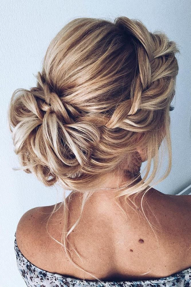 36 Chic And Easy Wedding Guest Hairstyles ❤️ wedding guest hairstyles low updo on blonde hair with braided side crown xenia_stylist #weddingforward #wedding #bride #weddinghair #weddingguesthairstyles