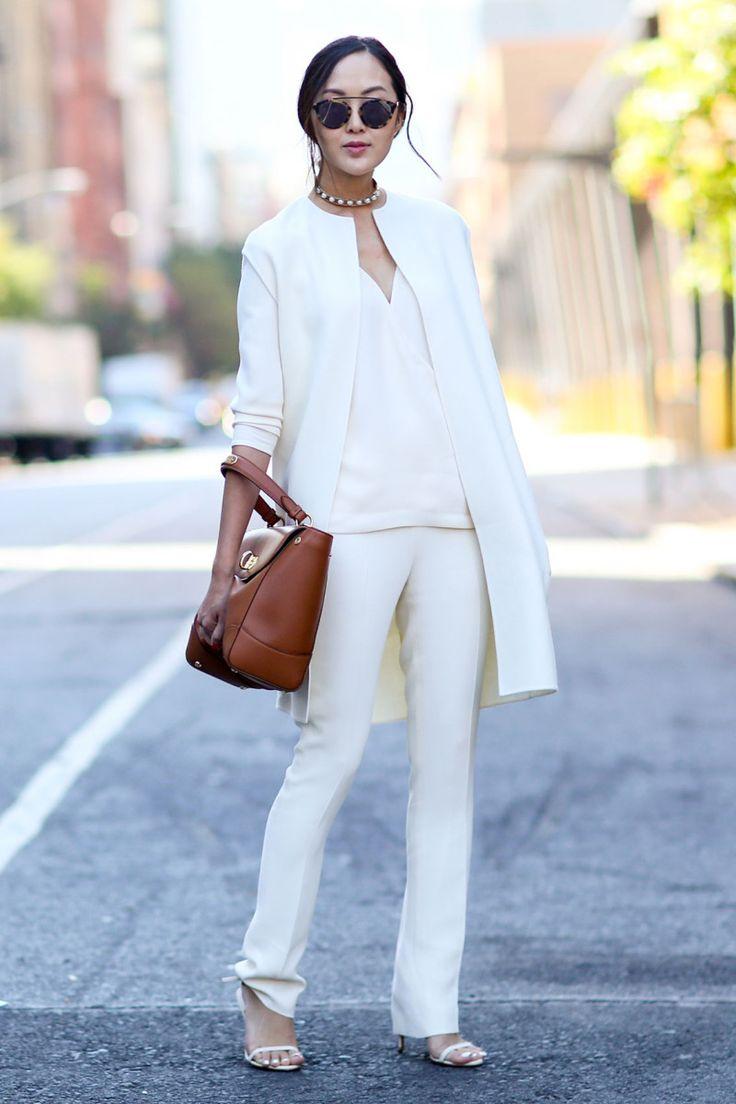 Blogger Chriselle Lim in Ralph Lauren. Photo: Imaxtree
