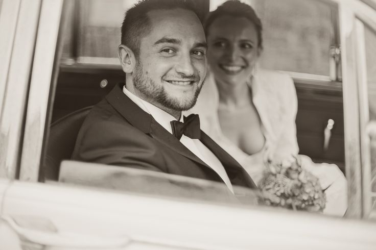 by JenzFlare People- & Hochzeitsfotograf Saarbrücken, Germany #wedding #bride #veil #dress #tuxedo #witness  #oldtimer #marriage #car