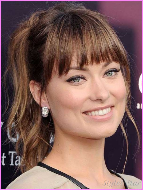 Celebrity haircuts with bangs 2017 - http://stylesstar.com/celebrity-haircuts-bangs-2017.html